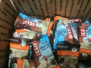 86 ASSORTED CLIF NUT BUTTER / ORGANIC  NUTRITION BARS NO RESERVE  LQQK