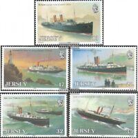 GB-Jersey 491-495 (kompl.Ausg.) postfrisch 1989 Schifffahrt