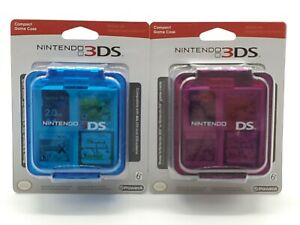 Nintendo 3DS / DS Compact Game Case (Blue / Purple Lot Of 2) 16 Game Cards