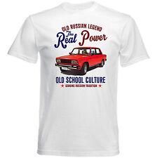 AUTO D'EPOCA RUSSO LADA 2105-Nuova T-shirt di cotone