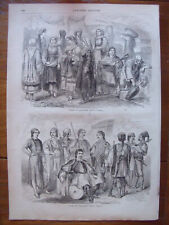 Greek types and costumes,...wood engraving...1864