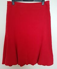 Autonomy Pavers Skirt Red Calf Lenght A-line Spring Flare Casual Formal Plus 16P
