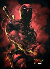 Marvel Comics Classic Dead Pool Deadpool Artist Style T-Shirt New Sz 2XL