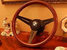 "BMW Steering Wheel 1600 1800 2002 Nardi deep dish 3"" Wood  NEW"