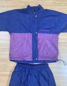 Vintage Sun Mountain Rain Suit Size Ladies Medium Rain Wind Golf Jacket Pants