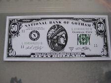Batman Forever Movie Prop Money $50.00 Bill  ( Val Kilmer ) - B3G1F