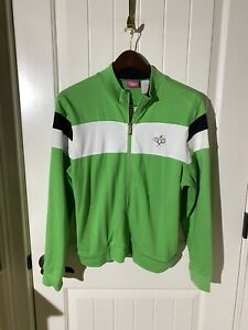 Pappagallo Petite Vintage Large Ladies Tennis Jacket Blue/White/Green