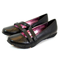 NEW GIRLS KIDS FLATS SMART DOLLY BLACK SCHOOL SHOES BALLERINA LOW SLIP SIZE 3-8