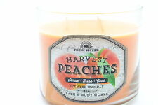 Bath & Body Works FRESH PICKED HARVEST PEACHES 3-Wick Candle 14.5 oz