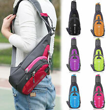 Men Small Chest Bag Pack Waterproof Travel Sport Shoulder Sling Backpack