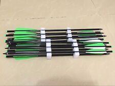 "12PK 20"" aluminum crossbow arrows 6/1000 straightness crossbow bolts archery"