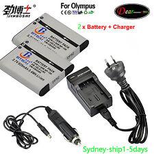 2X Li-50B Battery +Charger for Olympus SZ-10 11 12 14 20 30MR SZ-31MR TG-620 820