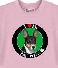 Rat Terrier Dog T Shirt - I Love My Rat Terrier - Child T Shirt Available