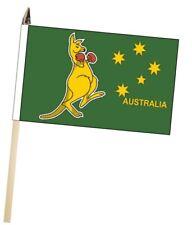 Australia Boxing Kangaroo Large Hand Waving Courtesy Flag
