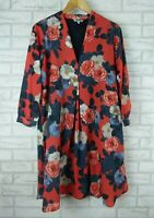 WITE Dress Sz 10 Red, Blue, Grey floral print