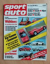 Sport Auto 6/1984 - Ferrari 512, Opel Kadett GTE, Honda Civic CRX, Datsun 300 ZX