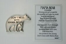 zzB Don't mess with MAMA BEAR mother cub protective POCKET TOKEN CHARM Ganz