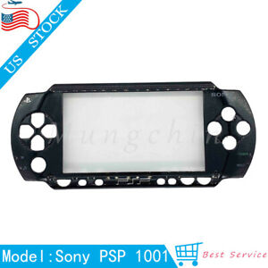 Replacement Shell For Sony PSP 1001 PSP 1000 Black Faceplate Front Cover Case US
