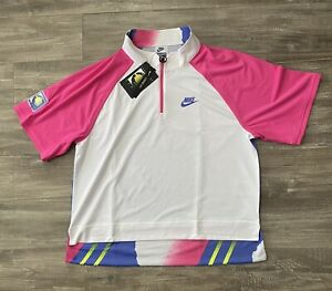 Nike 1/2 Zip Tennis Polo Challenge Court Slam Agassi Small