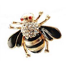 PF Women Vintage Brooch Bee Brooch Alloy And Diamond Brooch Black