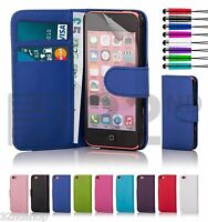 32nd PU Leather Book Wallet Case Cover Apple iPhone 5C + Screen Protector Stylus