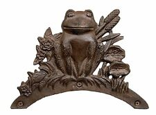 Hose Holder Cast Iron Frog Mr Gecko Decorative Hose Reel Hanger Antique Rust