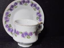 Vintage Japan NARCO CUP AND SAUCER SET Violet Flowers