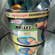 Pocket Hose Bullet Lightweight  50 FT Expanding Lead Free Removable Spray Nossle