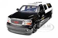 2002 GMC YUKON DENALI POLICE CAR 1:24 DIECAST MODEL BY JADA 96367