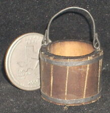Dollhouse Miniature Weathered Western Wooden Bucket 1:12 Mexican Wo1909(1)