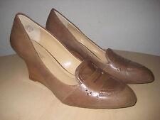 Circa Joan & David Shoes 7.5 M New Womens Manni Brown Leather Wedge Heels NWOB