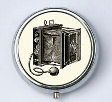 Vintage Folding Film Camera pillbox PILL CASE BOX holder photo photographer