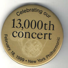 1999 NEW YORK PHILHARMONIC old pin 13,000th CONCERT French Horn Graphic
