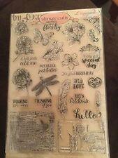 Ultimate Crafts sentimientos Sellos De Goma Nuevo Sellado cardmaking, mariposas,