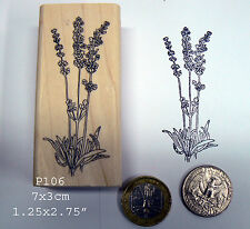 P106 Larger lavender flowers Rubber Stamp