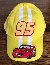 Disney Lightning McQueen 95 Yellow Adult Baseball Cap New
