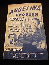 Partition Angelina Tino Rossi Film  chanteur Inconnu Jacques Hélian Music Sheet