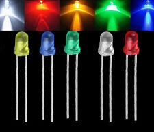 100PCS 3mm LED Emitting Diode Light Bulb Lamp White Green Red Blue Yellow  new