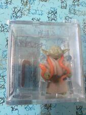 vintage 1980 kenner Star Wars Yoda Orange Snake/light Green AFA 85. AWESOME!