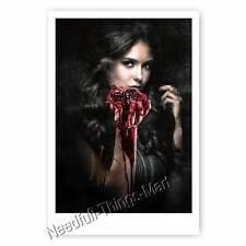 Nina Dobrev alias Elena Gilbert da Vampire Diaries-AUTOGRAFO carta fotografica [a2]
