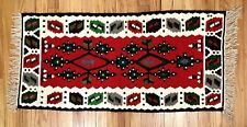 "Vintage KILIM Area Rug Small Red Doormat Bath Mat Antique Carpet 19.5"" x 40"""