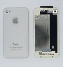 Apple iPhone 4 Glass Back Battery Cover - Colour: White - Model A1332