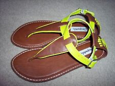 AEROPOSTALE Womens Brown + Lime Thong Sandals Size 7 NEW