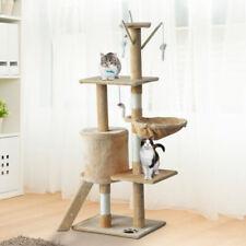PawHut Árbol Rascador para Gatos con Nidos Plataformas, Casetas y Ratón de Juego (ESD30-1660731)