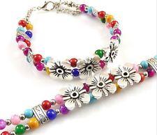 Tibet Flower Colored Beads Bracelet NEW