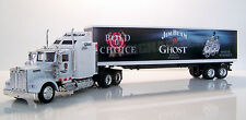 KENWORTH W900 Semi Truck Diecast 1:43 Scale Jim Beam Ghost White Custom Graphics