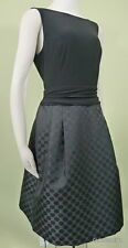 NWT($134) RALPH LAUREN Size 10 V-back Jacquard Pleated skirt Fit and Flare Dress