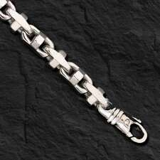 925  Sterling Silver Anchor Mariner chain necklace 7.9 MM 80 Gram  20""