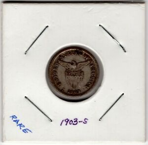 US Philippine Coin10 Ten Centavos1903 S Lot 200A - Silver