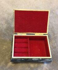 Mid Century Vintage Marble Jewelry Box.
